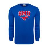 Royal Long Sleeve T Shirt-SMU w/Mustang