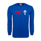 Royal Long Sleeve T Shirt-Pony Up