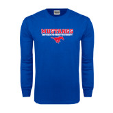 Royal Long Sleeve T Shirt-Stacked Mustangs w/ Pony