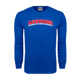 Royal Long Sleeve T Shirt-Arched Mustangs