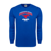 Royal Long Sleeve T Shirt-Arched Mustangs w/ Banner