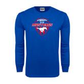 Royal Long Sleeve T Shirt-Mustangs in Shield