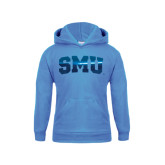Youth Light Blue Fleece Hoodie-Block SMU