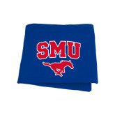 Royal Sweatshirt Blanket-SMU w/Mustang