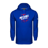 Under Armour Royal Performance Sweats Team Hoodie-Angled Mustangs in Basketball