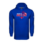 Under Armour Royal Performance Sweats Team Hoodie-Soccer Swoosh