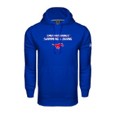 Under Armour Royal Performance Sweats Team Hoodie-Stacked Swim and Dive Design