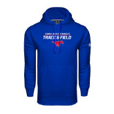 Under Armour Royal Performance Sweats Team Hoodie-Track and Field Stacked Design