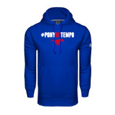 Under Armour Royal Performance Sweats Team Hoodie-#PonyUpTempo Above Mustang