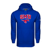 Under Armour Royal Performance Sweats Team Hood-SMU w/Mustang