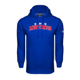 Under Armour Royal Performance Sweats Team Hood-Arched SMU Mustangs