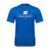 Performance Royal Tee-Stacked Cross Country Design