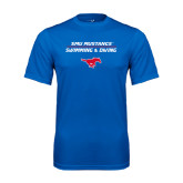 Performance Royal Tee-Stacked Swim and Dive Design
