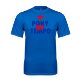 Performance Royal Tee-Pony Up Tempo Stacked
