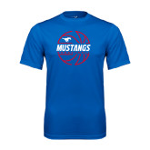 Performance Royal Tee-Mustangs Basketball Lined Ball