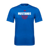 Performance Royal Tee-Mustangs Basketball Net Icon
