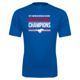 Performance Royal Tee-2017 AAC Regular Season Mens Basketball Champions Stacked