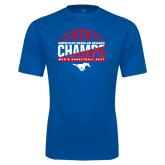 Syntrel Performance Royal Tee-2017 AAC Regular Season Champs - Mens Basketball Half Ball