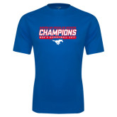 Performance Royal Tee-2017 AAC Regular Season Champions - Mens Basketball Stencil