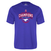 Performance Royal Tee-2017 AAC Conference Champions - Mens Basketball Arched Banner