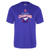 Performance Royal Tee-2017 AAC Conference Champions - Mens Basketball Arched Net