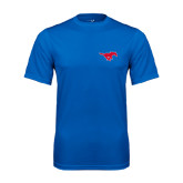 Syntrel Performance Royal Tee-Official Outlined Logo