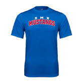 Performance Royal Tee-Arched SMU Mustangs