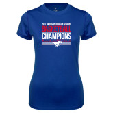 Ladies Syntrel Performance Royal Tee-2017 AAC Regular Season Mens Basketball Champions Stacked