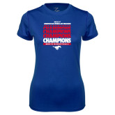 Ladies Syntrel Performance Royal Tee-2017 AAC Regular Season Champions Repeating - Mens Basketball