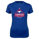 Ladies Syntrel Performance Royal Tee-2017 AAC Conference Champions - Mens Basketball Banners