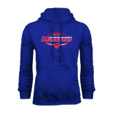 Royal Fleece Hoodie-Mustangs in Football