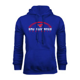 Royal Fleece Hoodie-Arched Football Design