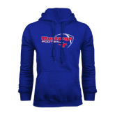 Royal Fleece Hoodie-Football Outline Design
