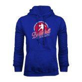 Royal Fleece Hoodie-Player on Basketball Design