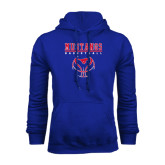 Royal Fleece Hoodie-Stacked Basketball Design