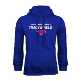 Royal Fleece Hoodie-Track and Field Stacked Design