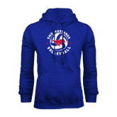 Royal Fleece Hoodie-Mustang on Volleyball
