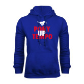 Royal Fleece Hoodie-Pony Up Tempo Stacked