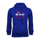 Royal Fleece Hoodie-Mustangs Basketball Lined Ball