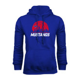 Royal Fleece Hoodie-Mustangs Basketball Dallas Skyline