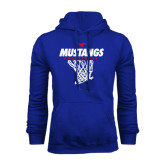 Royal Fleece Hoodie-Mustangs Basketball Stacked w/ Net