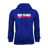 Royal Fleece Hoodie-Mustangs Basketball Stacked Bar