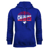 Royal Fleece Hoodie-2017 AAC Regular Season Champs - Mens Basketball Half Ball