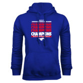 Royal Fleece Hoodie-2017 AAC Regular Season Champions Repeating - Mens Basketball