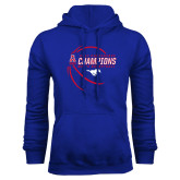 Royal Fleece Hoodie-2017 AAC Conference Champions - Mens Basketball Contour Lines