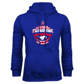 Royal Fleece Hoodie-2017 AAC Conference Champions - Mens Basketball Arched Shadow