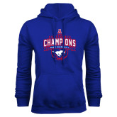 Royal Fleece Hoodie-2017 AAC Conference Champions - Mens Basketball Arched Banner