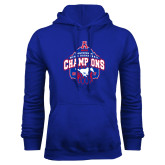 Royal Fleece Hoodie-2017 AAC Conference Champions - Mens Basketball Arched Net