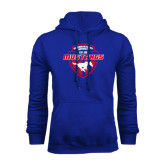 Royal Fleece Hoodie-Mustangs in Shield