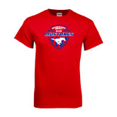 Red T Shirt-Mustangs in Shield